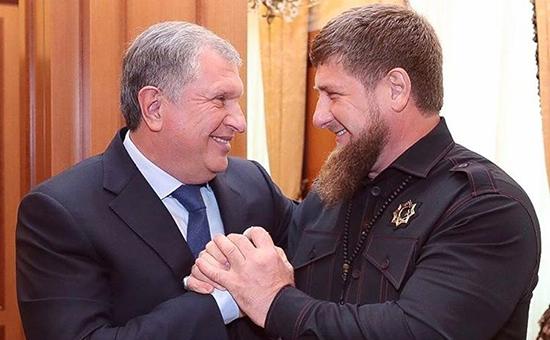 Игорь Сечин и Рамзан Кадыров (слева направо)