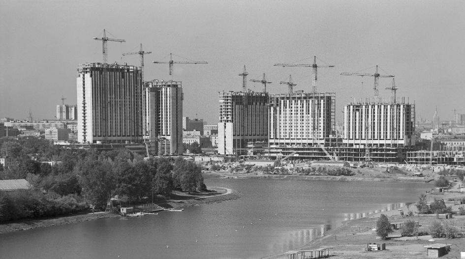Строительство гостиничного комплекса в Измайлове. 1978 год
