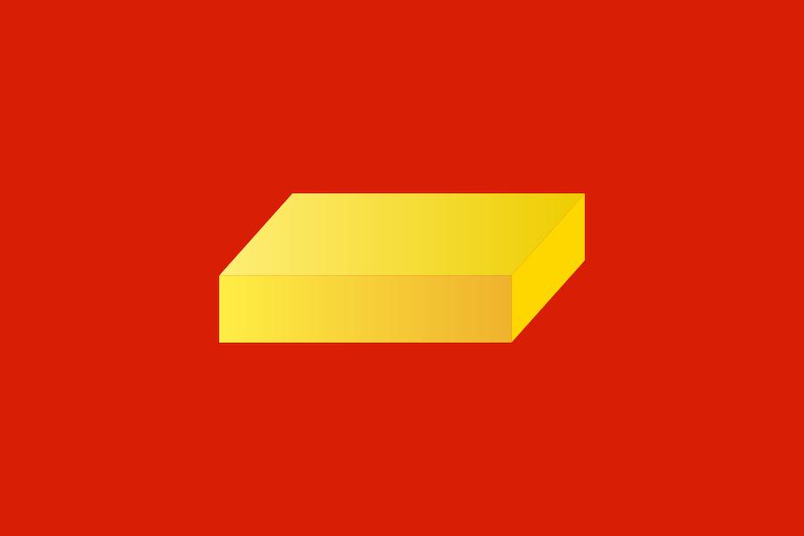 Флаг города Шуя, аналогичный рисунок изображен и на его гербе