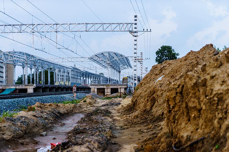 Строительство станции «Ботанический сад», июль 2016 года