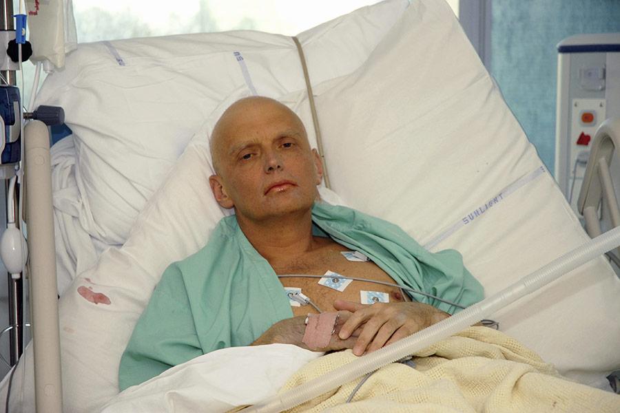Александр Литвиненко в больнице Университетского колледжа Лондона. 21 ноября 2006 года