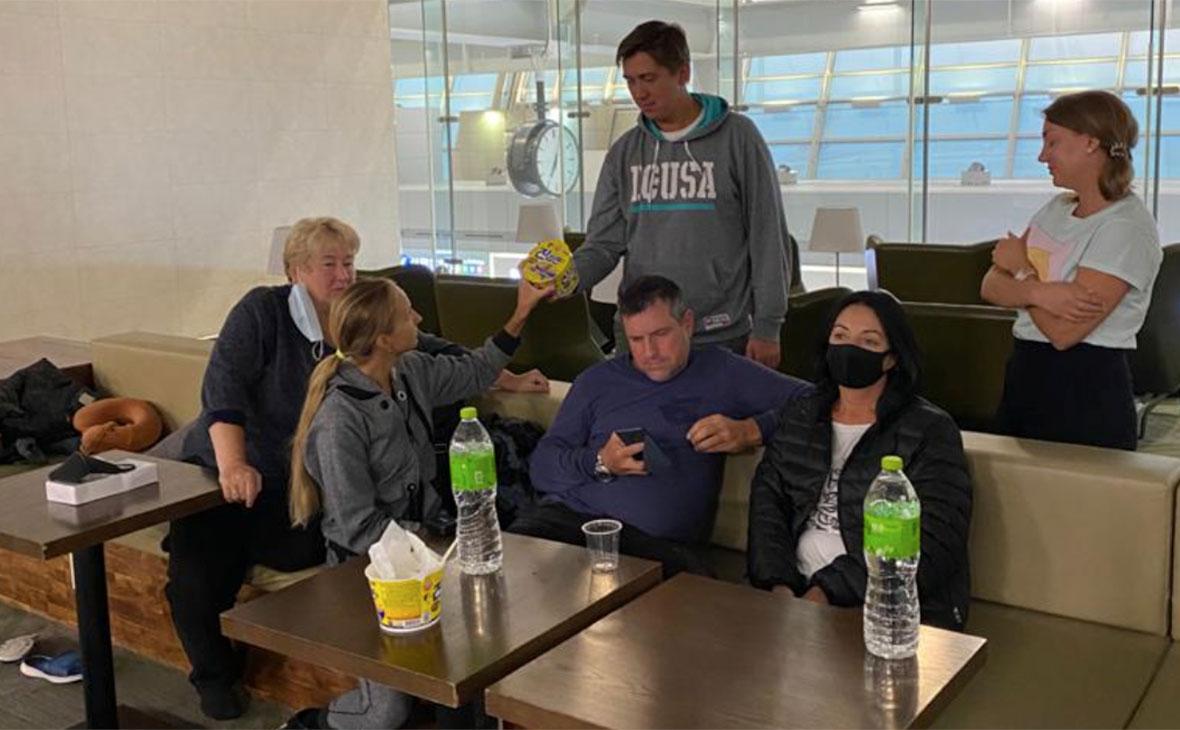 Граждане РФ в аэропорту Сеула