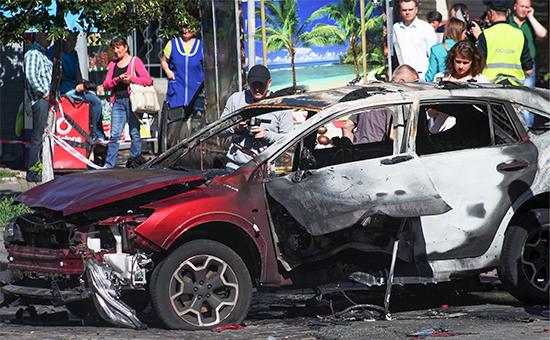 На месте взрыва автомобиля, вкотором находился журналист Павел Шеремет