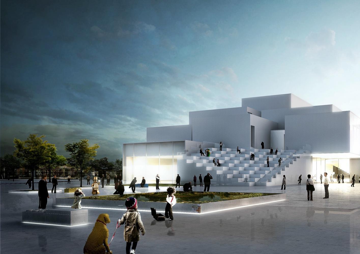 Площадь передLEGO House будет общественной. На площади 2тыс.кв. моткроется парк сплатными ибесплатными аттракционами