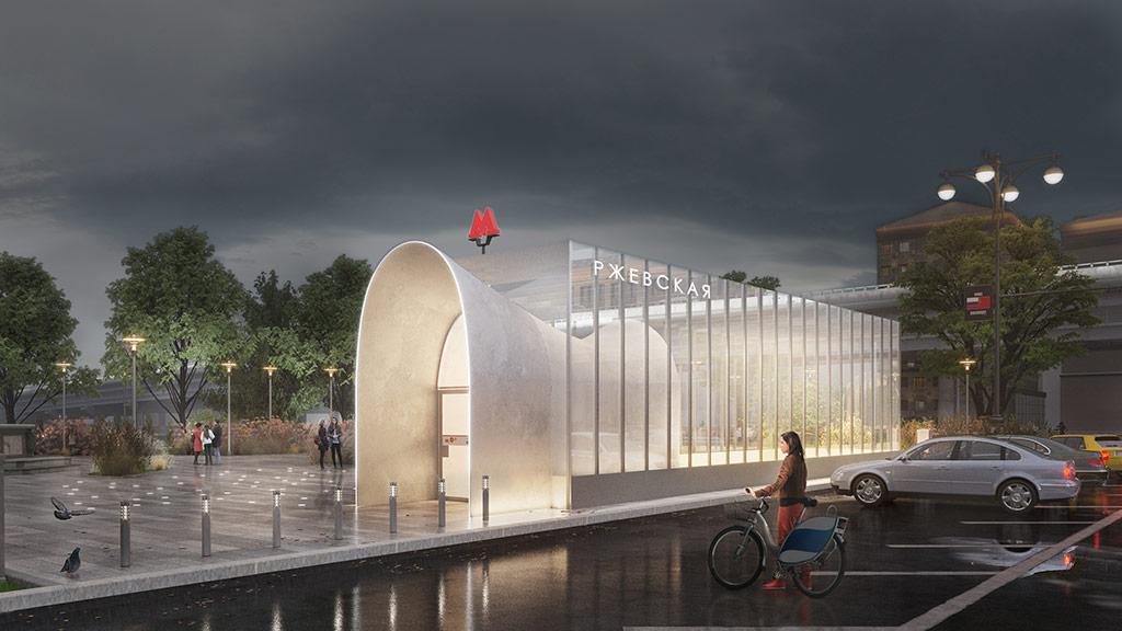 Дизайн станции «Ржевская»