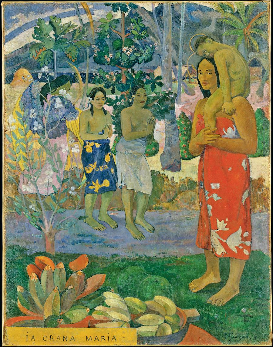 «Аве, Мария», Поль Гоген, 1891 год