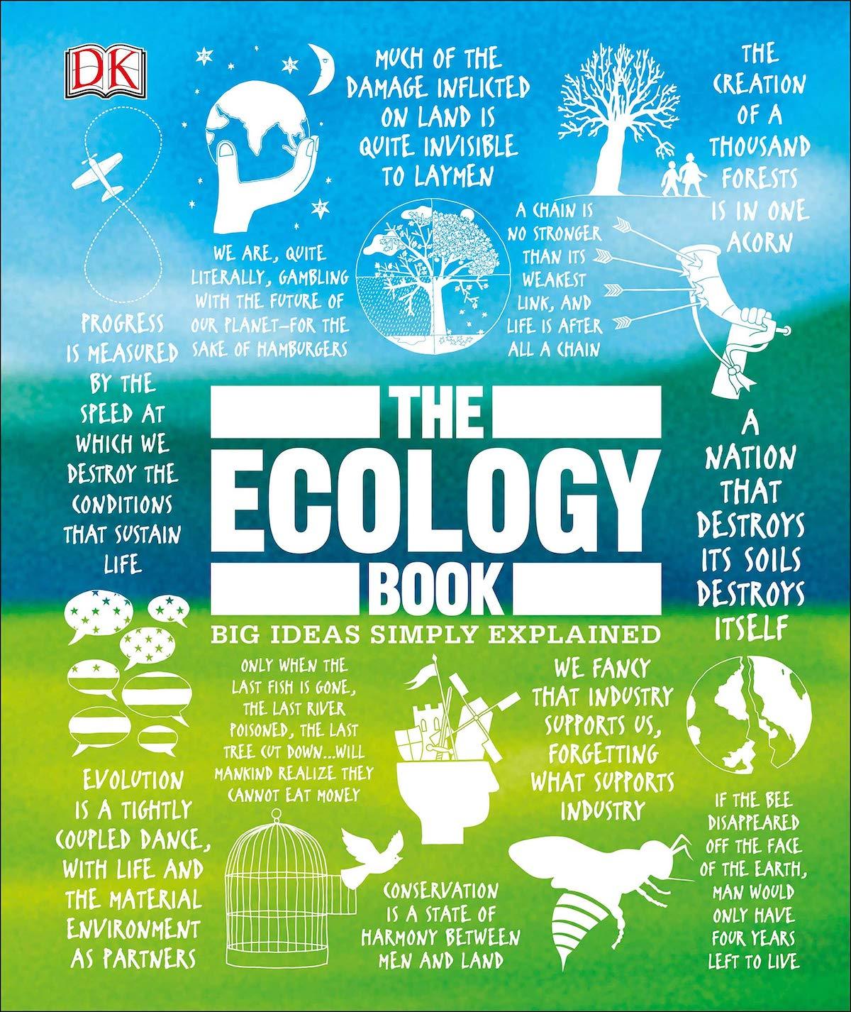 Обложка книги Tony Juniper: The Ecology Book. Big Ideas Simply Explained.Dorling Kindersley, 2019 год