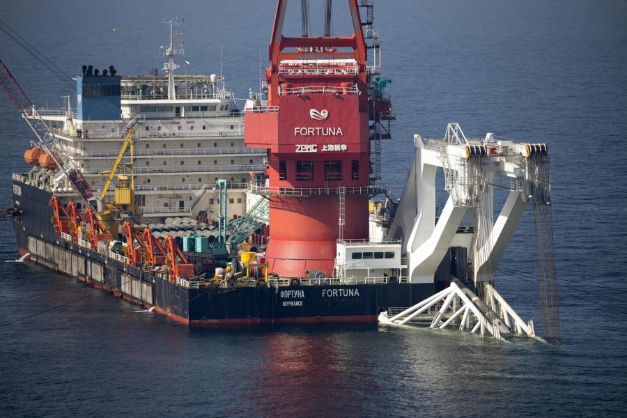 Mногоцелевое судно «Фортуна», которое провелотрубоукладочные работы для«Северного потока-2»