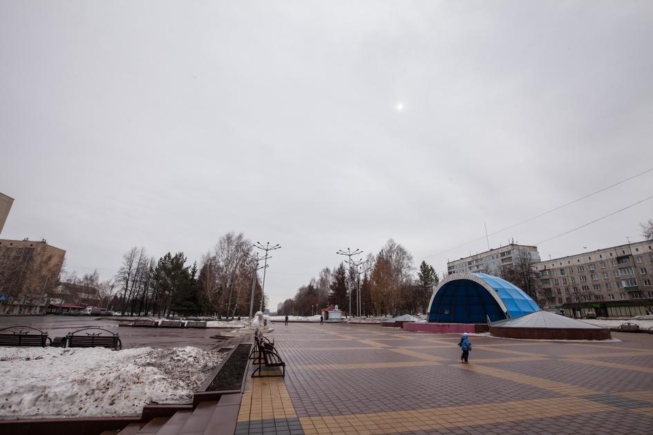 Кемерово. Участок бульвара Строителей