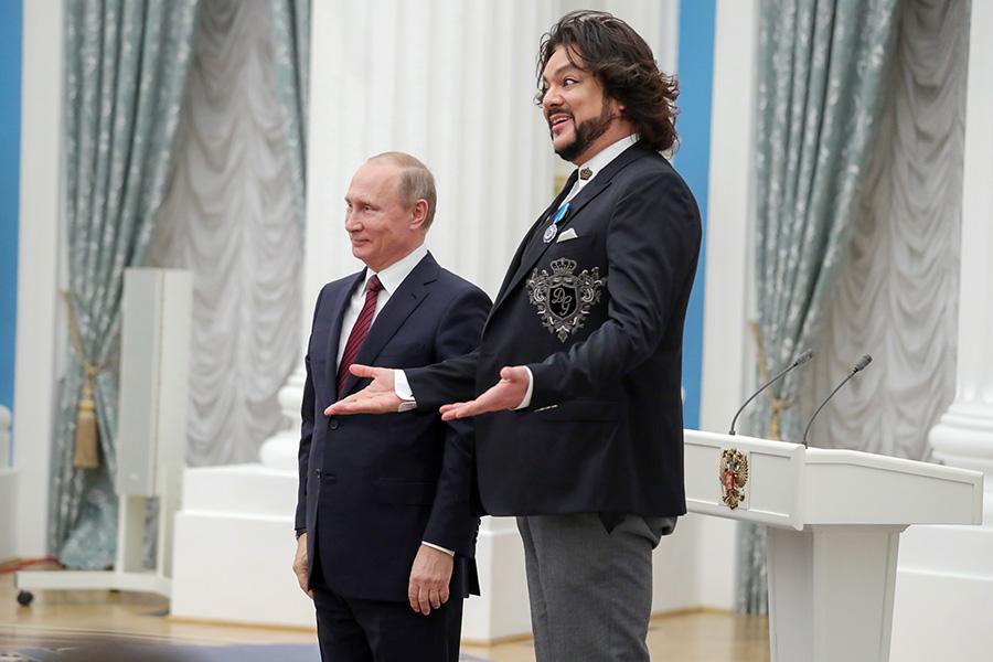 Владимир Путин иФилипп Киркоров