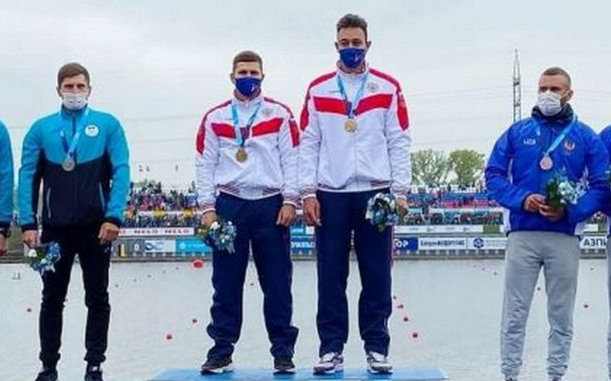 Фото: Захар Петров и Кирилл Романов (Фото: пресс-служба Федерации гребного спорта России)