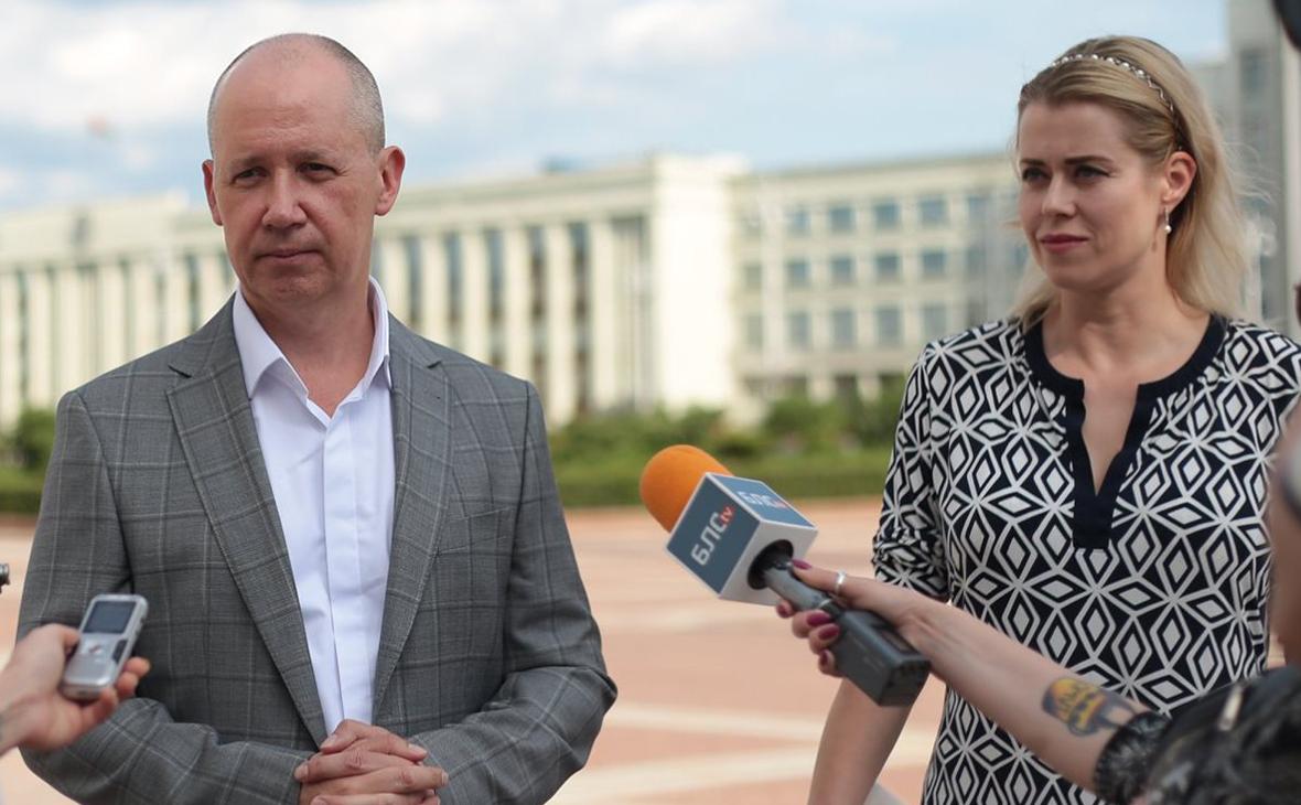 Валерий Цепкало и Вероника Цепкало