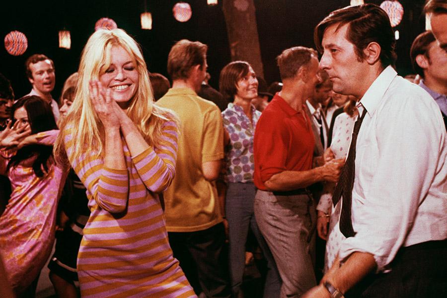 Жан Рошфор и Бриджит Бардо в фильме «Две недели в сентябре», 1967 год