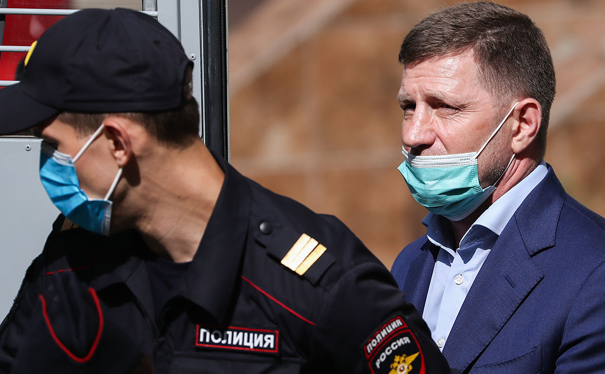Сергей Фургал после избрания меры пресечения в Басманном суде