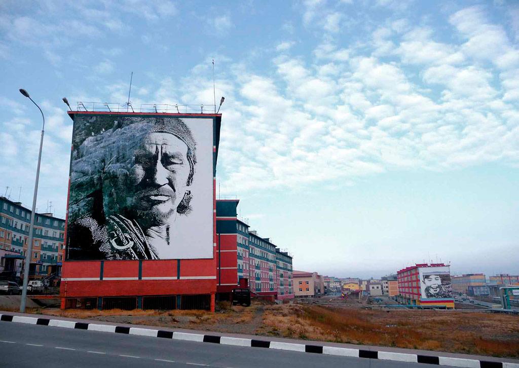 Дизайн городской среды, Анадырь, Чукотка, 2002 год Авторы проекта: Сергей Илышев иВладимир Юданов, «Ё-программа»