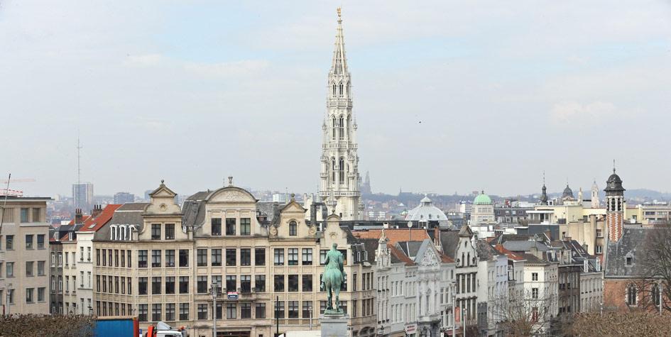 Вид на город Брюссель