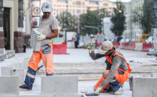 Работы по благоустройству улиц