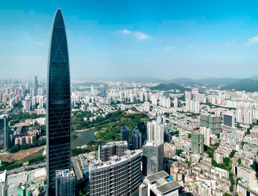 № 15. KK100   Высота: 441,8 м, 100 этажей Место: Шэньчжэнь, Китай Назначение: отель и жилье Архитектура: TFP Farrells Дата строительства: 2011 год
