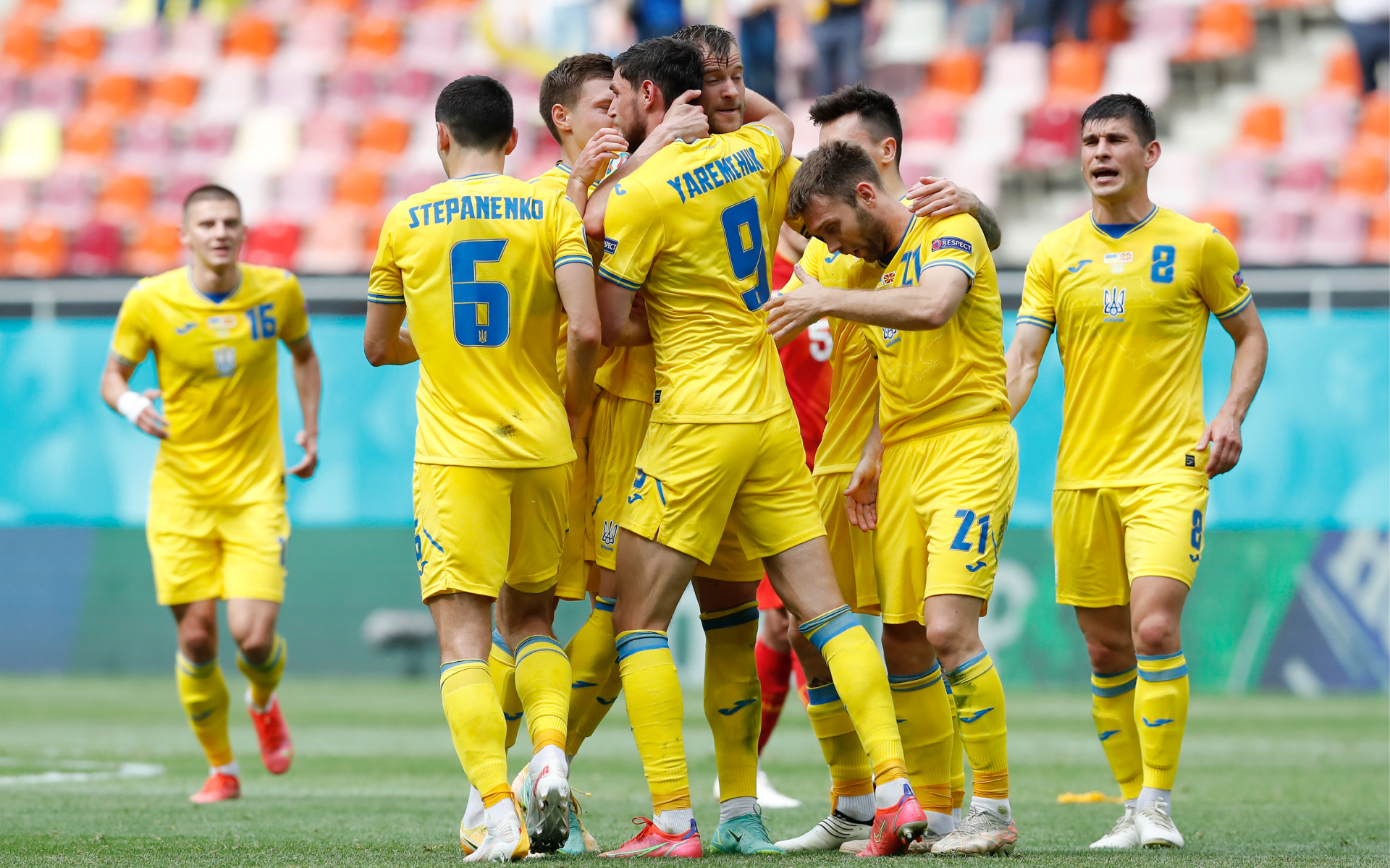Фото:Игроки сборной Украины (Robert Ghement - Pool/Getty Images)