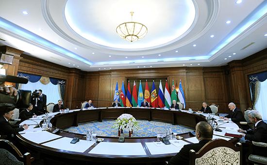Заседание совета глав государств СНГ вБишкеке. 16 сентября 2016 года