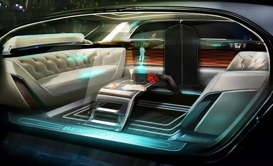 Это салон автомобиля Bentley, который компания планирует запустить в массовое производство к 2030 году