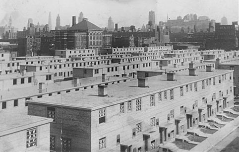 Проект Cabrini–Green, Чикаго. Застройка 1942 года...
