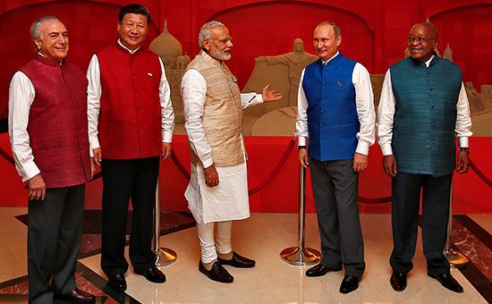 Лидеры стран БРИКС на саммите в Индии