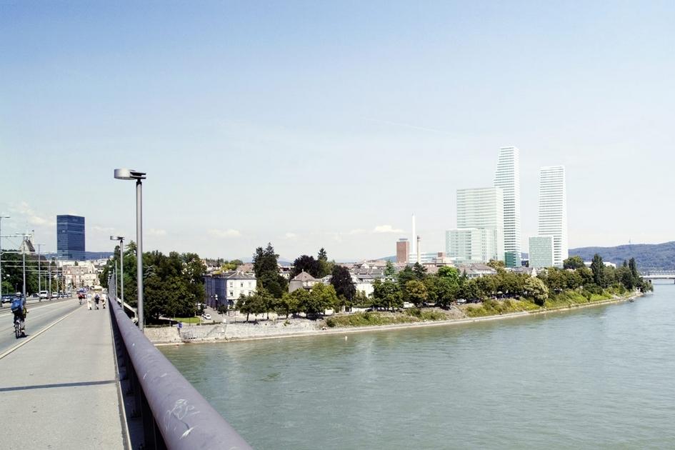Базель, Швейцария  Швейцарское бюро Herzog & de Meuron базируется вБазеле—небольшом городе насеверо-западе страны. Неудивительно, чтоработающий здесьжефармацевтический гигант Roche заказал себе штаб-квартиру у компании Жака Герцога иПьера де Мюрона. Для медицинской корпорации лауреаты Притцкеровской премии создали комплекс небоскребов, удивительным образом вписанный впасторальный пейзаж альпийского Базеля со170-тысячным населением