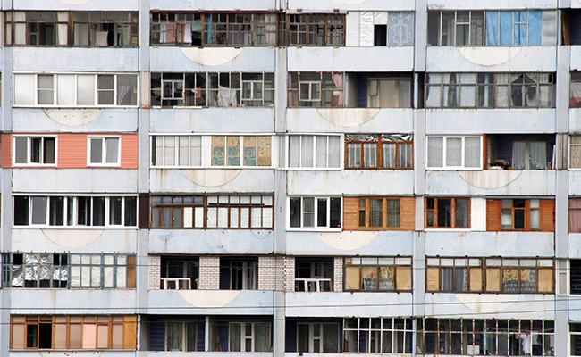 Девятиэтажный дом в Москве