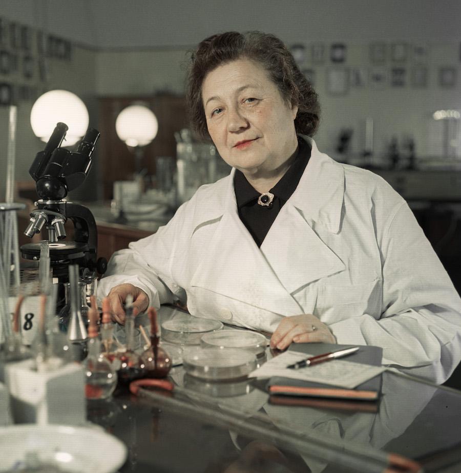 Зинаида Ермольева, 1959 год. За открытие первого советского антибиотика в 1943 году она получила Сталинскую премию I степени. Эти деньги она пожертвовала в Фонд обороны, и на них построили истребитель, названный ее именем