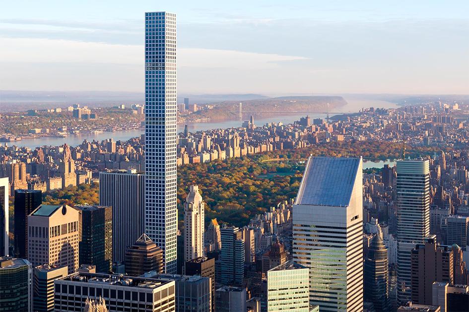 Башня-зеркало 432 Park Avenue входит в двадцатку самых высоких сооружений на планете и занимает второе место по высоте в Нью-Йорке. Среди зданий Манхэттена 89-этажный небоскреб уступает только восьмигранному One World Trade Center, построенному на месте разрушенного Всемирного торгового центра