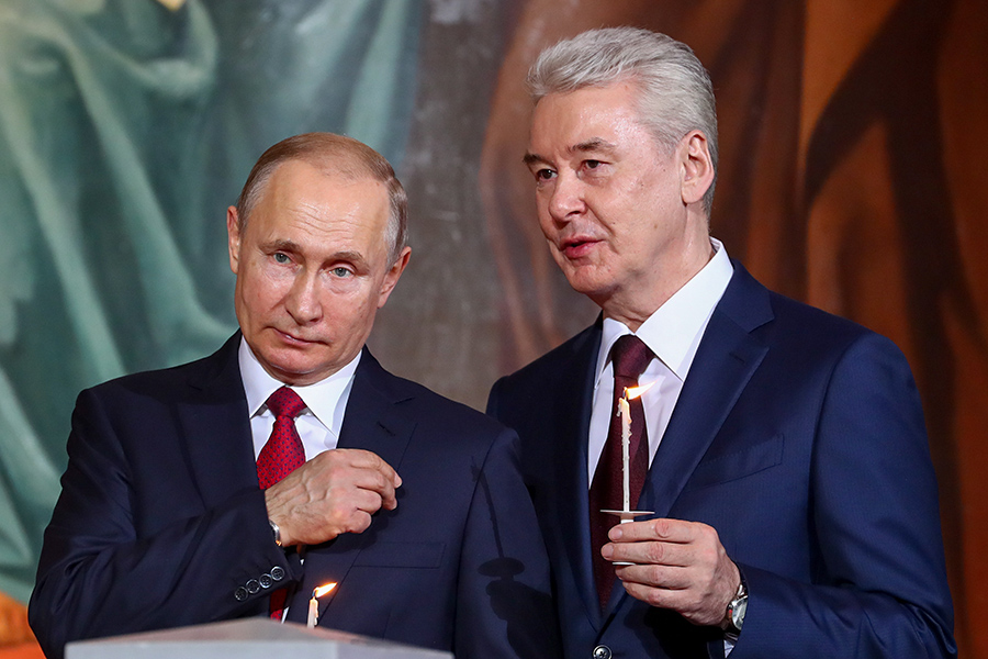 Владимир Путин и Сергей Собянин (слева направо)