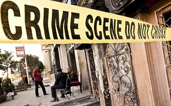 На месте преступления в Каире. Архивное фото