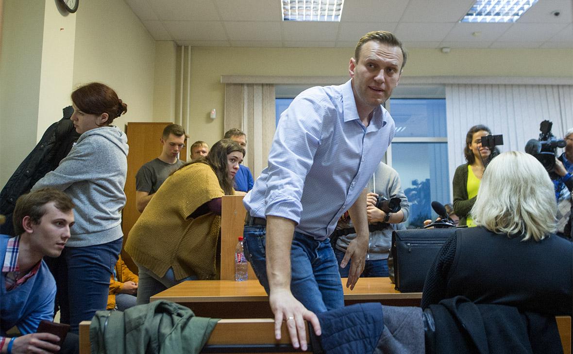 Алексей Навальный в Симоновском районном суде Москвы