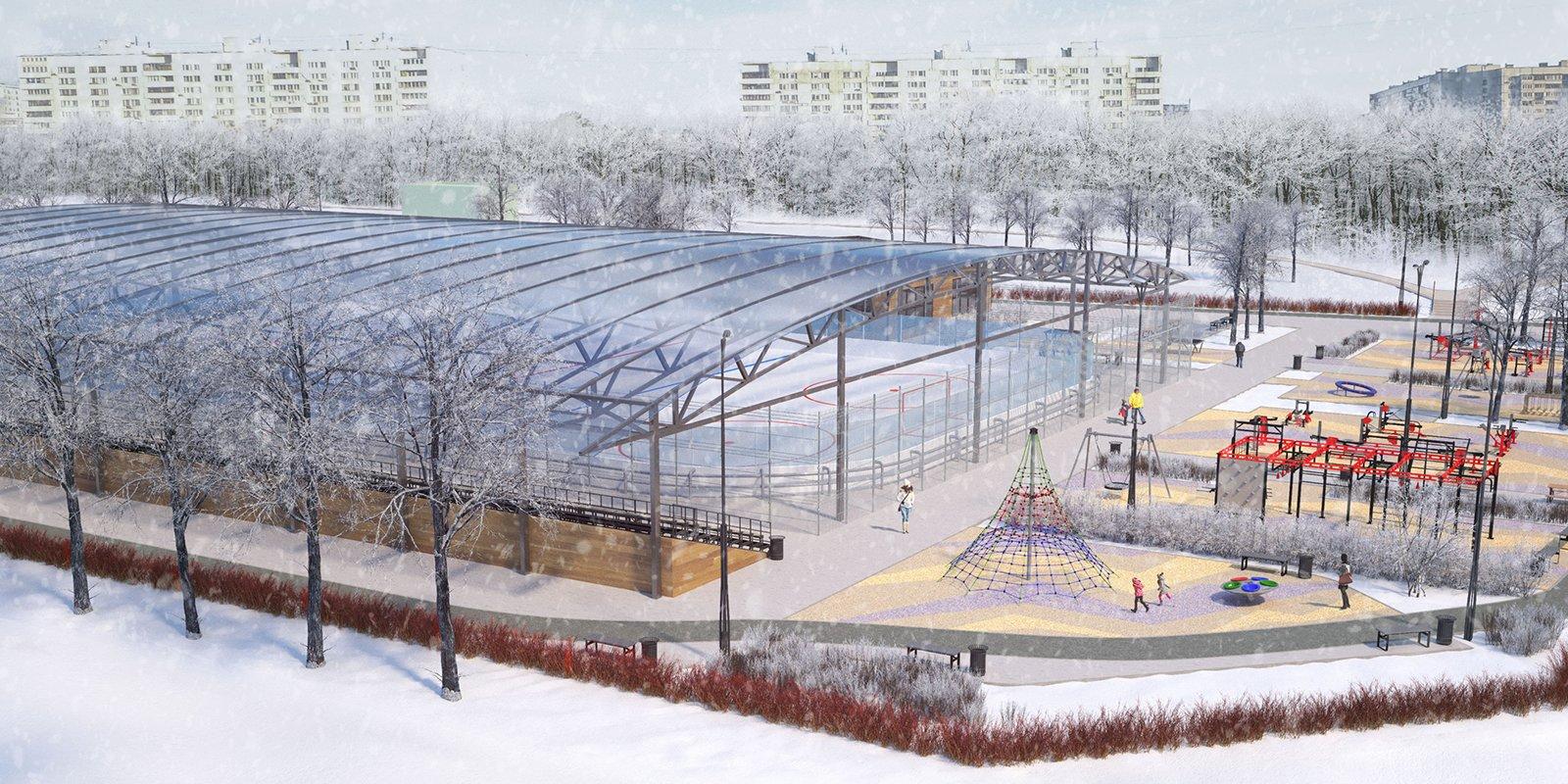 Проект спортивной площадки в Зябликово