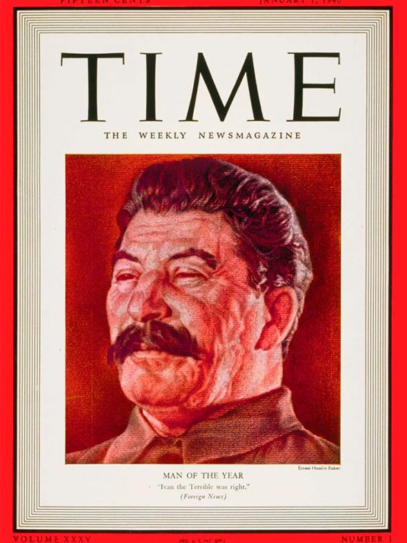 С 1927 года Time выбирает «человека года». В 1939 году им стал Генеральный секретарь ЦК ВКП (б) Иосиф Сталин. Тогда он курировал подписание пакта о ненападении с нацистской Германией перед вторжением в Восточную Польшу (пакта Молотова — Риббентропа).  Свой выбор журнал объяснил гигантским влиянием Сталина на мировые события. «Чем обернется эта новая эпоха — разгулом национализма или интернационализмом в положительном, а может быть, и в отрицательном смысле этого понятия, — неизвестно, но то, что это будет новая эпоха, несомненно, и конец старого мира во многом предопределил человек, чьи владения большей частью располагаются за пределами Европы. Этот человек — Иосиф Сталин, за один августовский вечер радикально изменивший соотношение сил в Старом Свете. Поэтому именно он стал «человеком года». Возможно, в историю Сталин войдет как отрицательный персонаж, но то, что он войдет в историю, — несомненно».