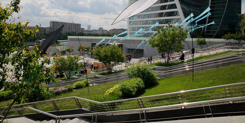 Вид нановое общественное пространство внутриММДЦ «Москва-Сити»