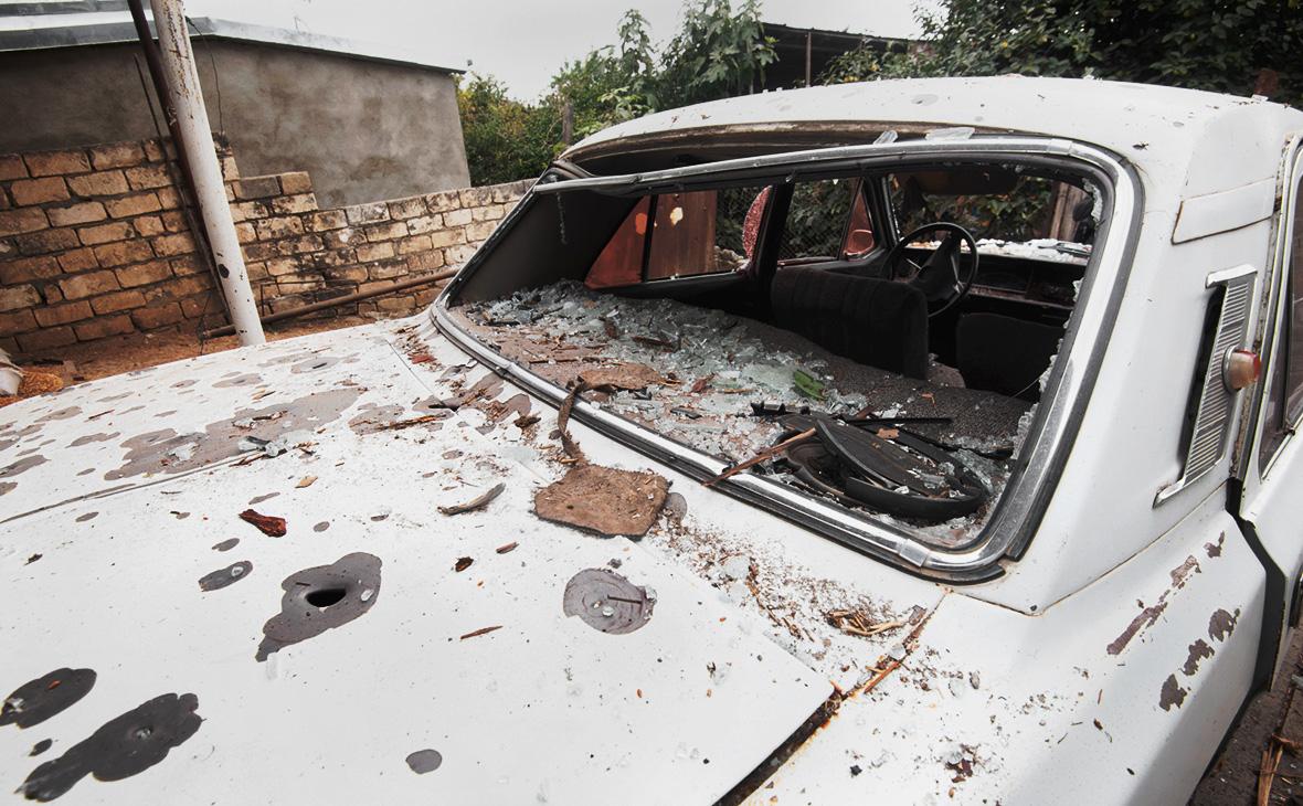 Последствия обстрелов в Нагорном Карабахе