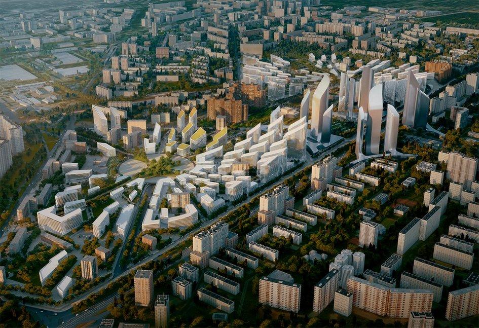 Проект застройки Кузьминок по программе реновации. Конкурсный проект консорциума Zaha Hadid Architects + ТПО «Прайд»