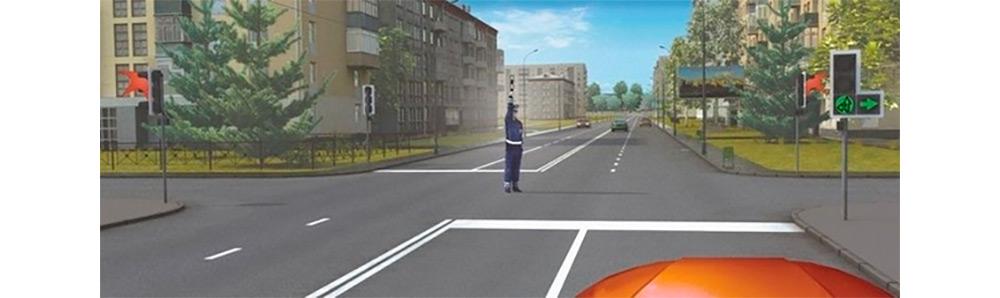 <p>Рука вверх: движение запрещено всем, кроме автомобилей, завершающих маневр.</p>