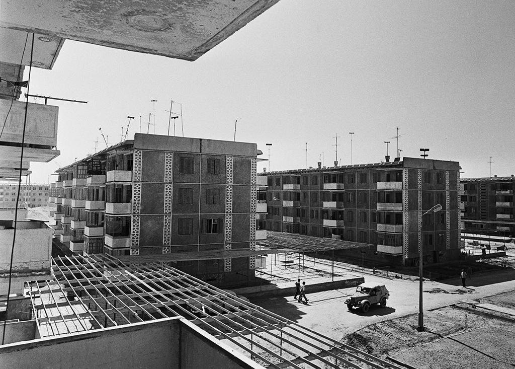 Строительство вКаракумах. Поселок Нефтезаводск, Туркменская ССР