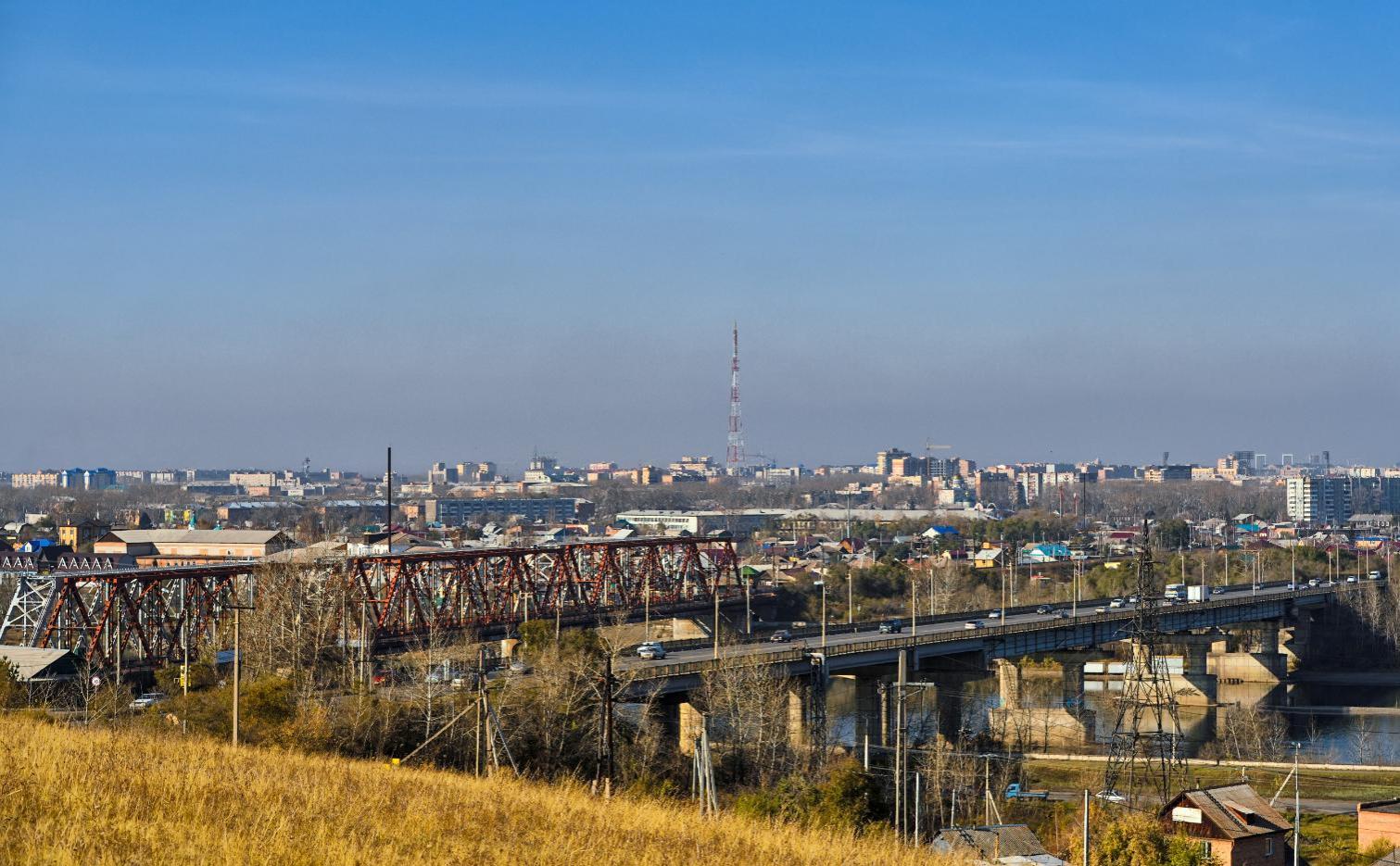 Вид на город Абакан