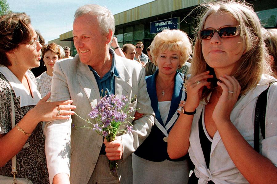 Ксения Собчак с отцом Анатолием Собчаком и матерью Людмилой Нарусовой