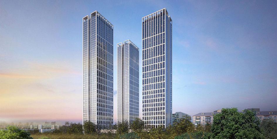 Проект высотного жилого комплекса на Мичуринском проспекте