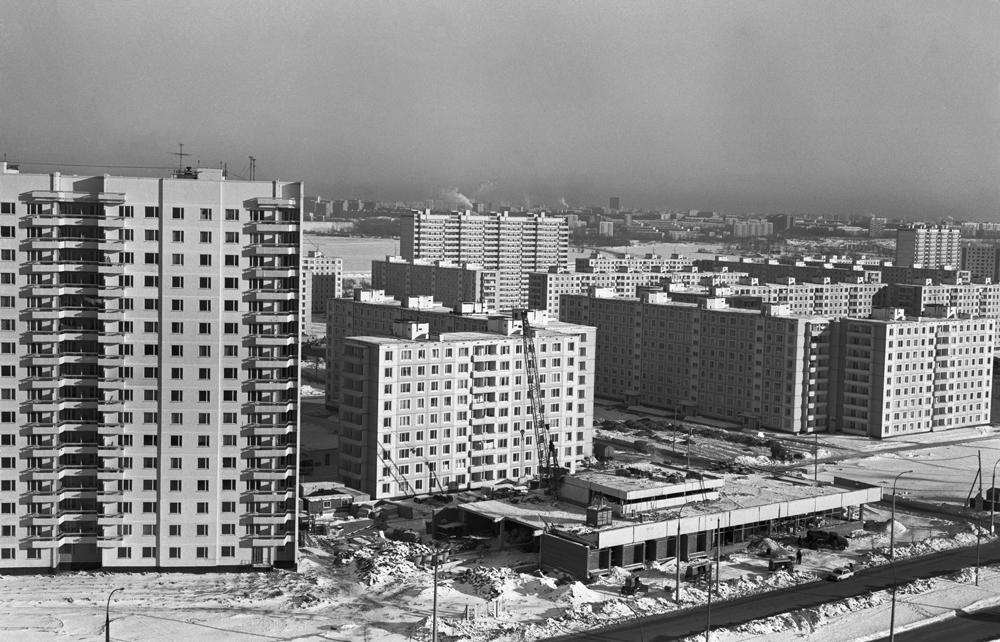 Новые жилые дома в Строгине.1980 год