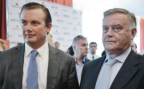 Глава РЖДВладимирЯкунинс сыном Андреем (справа налево)