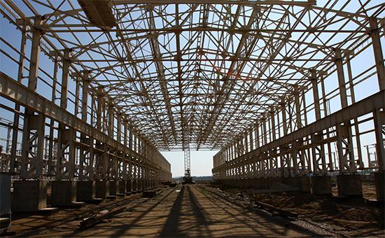 Строительная площадка Тайшетского алюминиевого завода