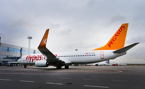 Лайнер авиакомпании Pegasus Airlines в аэропортуДомодедово. Архивное фото