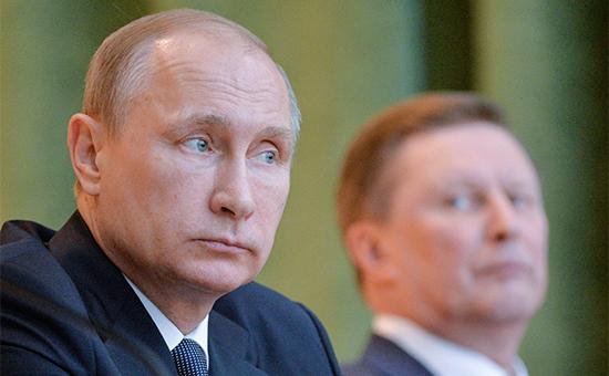 Президент России Владимир Путин иэкс-глава кремлевской администрации Сергей Иванов (слева направо)