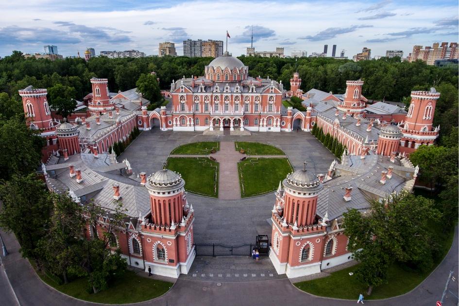 Вид на Петровский путевой дворец